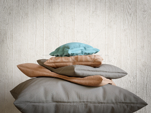 pillows collection as mountain peak relax and comfort concept composition photo Stock photo © denisgo