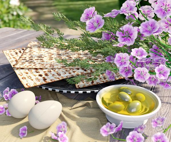 Kutlamak Yahudilerin hamursuz bayramı çiçekler doğa çiçek bahar Stok fotoğraf © denisgo