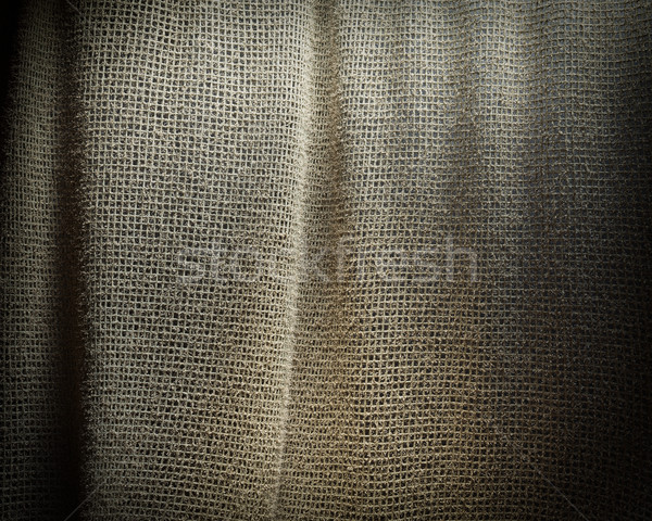 Grey sackcloth texture background. Soft fabric textile material. Stock photo © denisgo