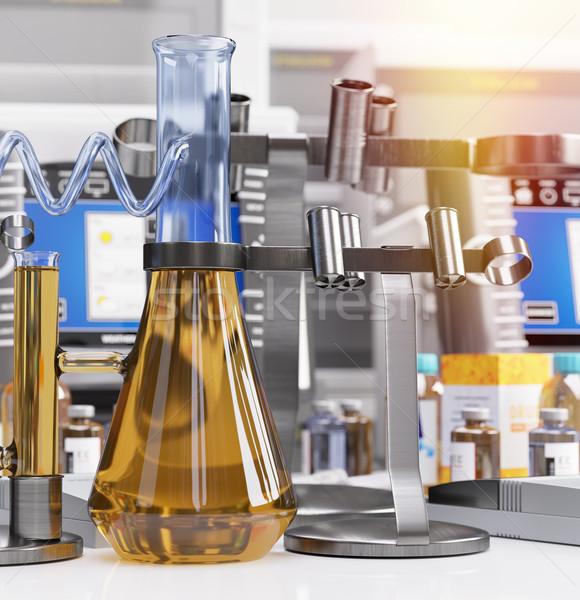 Biologisch chemische laboratorium wetenschap technologie medische Stockfoto © denisgo