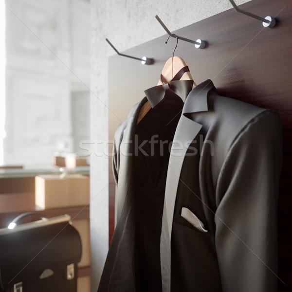 Negócio jaqueta parede foto escritório Foto stock © denisgo