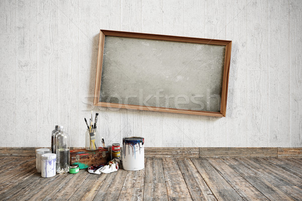 artistic home repairing concept composition with place for logo Stock photo © denisgo