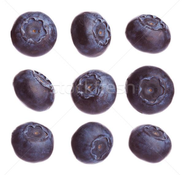 Friss nyers áfonya különböző forma izolált Stock fotó © DenisMArt