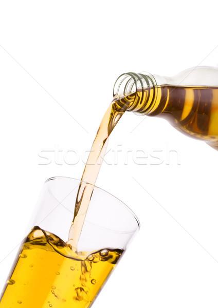 áramló friss almalé üveg üveg fehér Stock fotó © DenisMArt