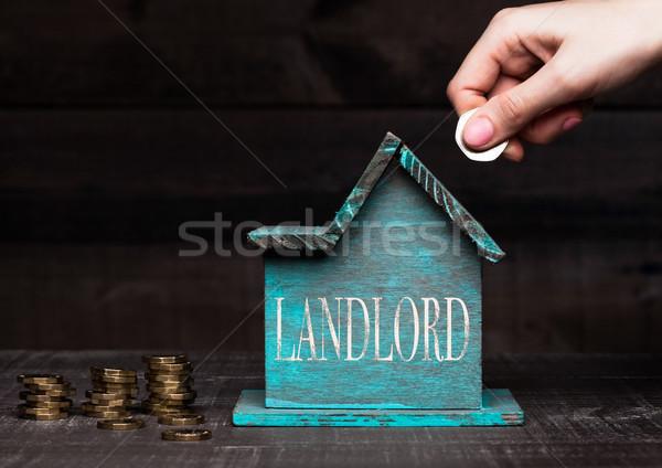 Сток-фото: дома · модель · монетами · стороны