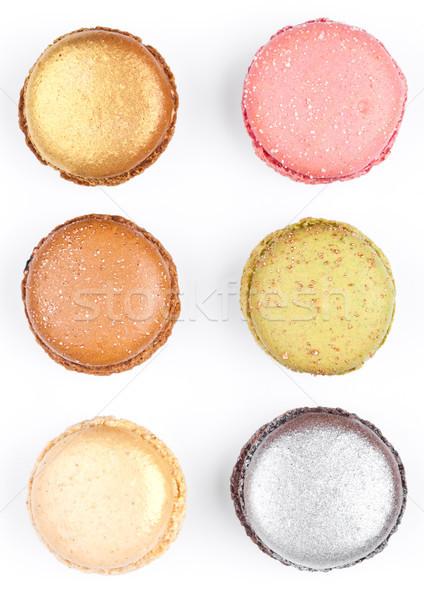 Français coloré macarons dessert gâteaux haut Photo stock © DenisMArt