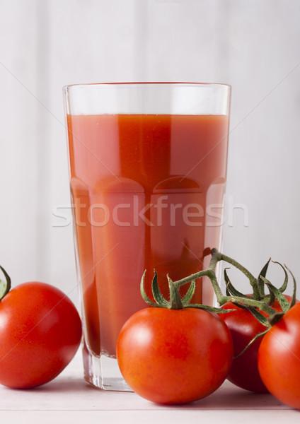стекла томатный сок свежие сырой помидоров Сток-фото © DenisMArt