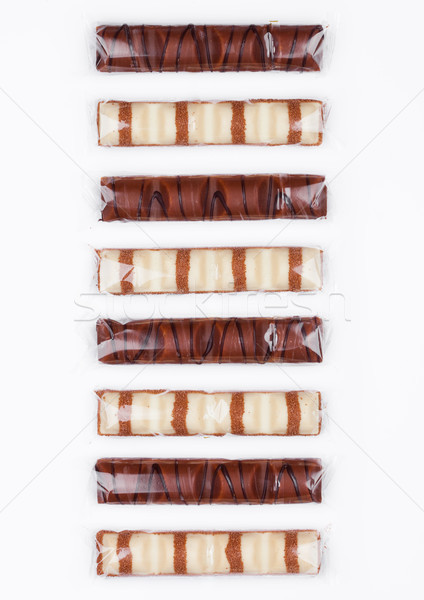 Lait blanche chocolat sweet bars noir Photo stock © DenisMArt