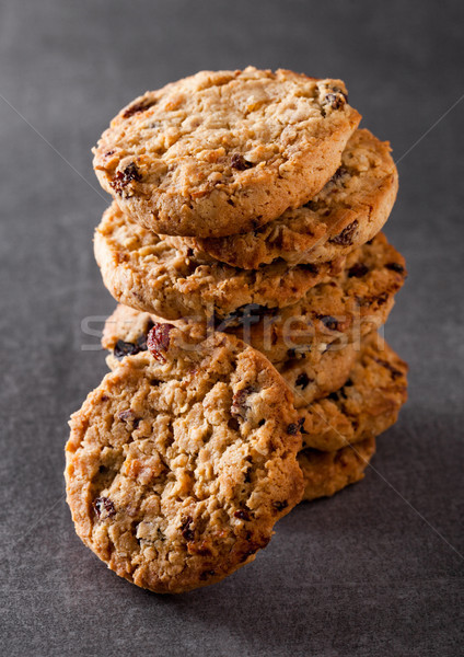 Gluten free oatmeal chocolate cookies with rasins Stock photo © DenisMArt