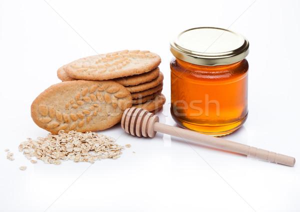 Healthy bio breakfast grain biscuits with honey  Stock photo © DenisMArt