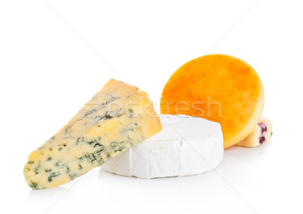 異なる チーズ 白 反射 食品 スペース ストックフォト © DenisMArt