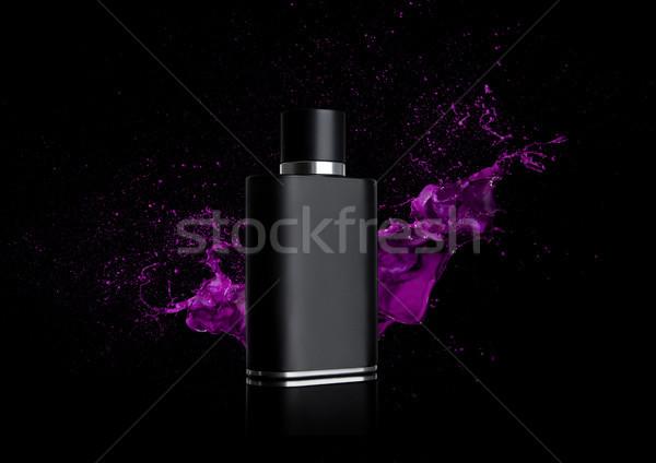 黒 液体 香水 ボトル 塗料 跳ね ストックフォト © DenisMArt