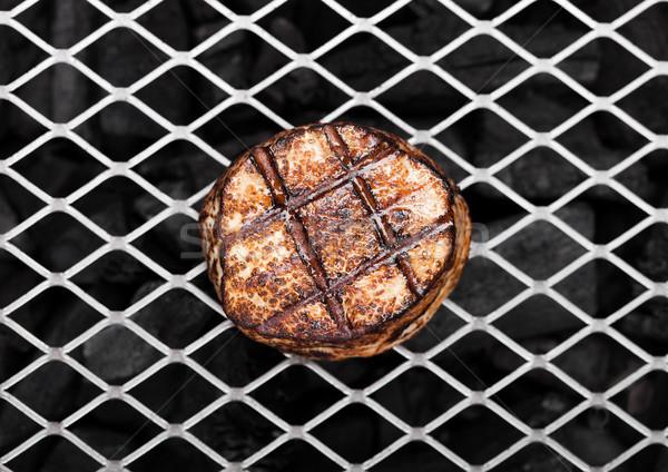 焼き ジューシー 牛肉 豚肉 ステーキ バーベキュー ストックフォト © DenisMArt