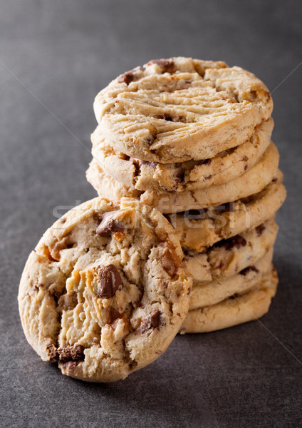 Zoete karamel glutenvrij cookies steen thee Stockfoto © DenisMArt