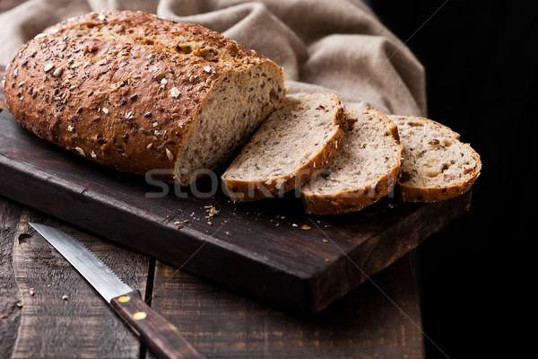 Pan cocina toalla cuchillo Foto stock © DenisMArt
