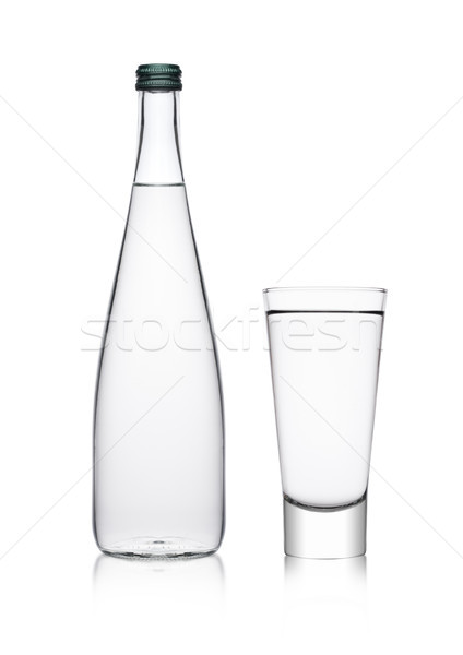 Stock photo: Bottle and glass with healthy still clear water