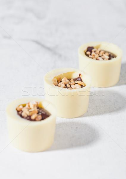 Assortment luxury white chocolate candies variety  Stock photo © DenisMArt