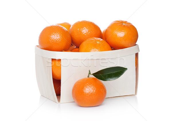 Caixa fresco orgânico frutas branco saúde Foto stock © DenisMArt
