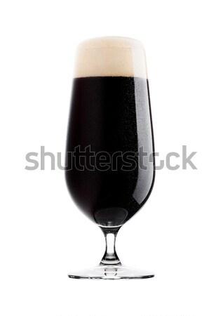 Soğuk cam karanlık bira köpük çiy Stok fotoğraf © DenisMArt
