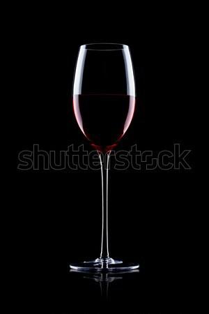 Vidro vinho tinto preto reflexão comida arte Foto stock © DenisMArt