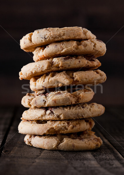 Zoete karamel glutenvrij cookies oude houten Stockfoto © DenisMArt