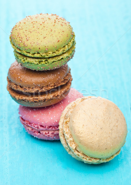 French luxury colorful macarons dessert cakes  Stock photo © DenisMArt