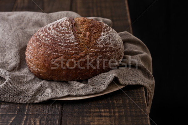 Pan cocina toalla madera Foto stock © DenisMArt