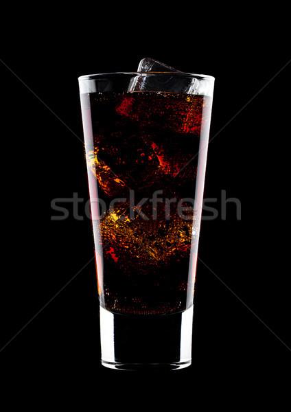 üveg hideg kóla üdítő ital jégkockák Stock fotó © DenisMArt