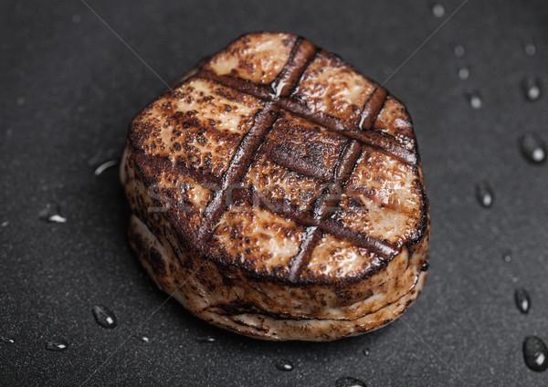 Grillezett lédús marhahús disznóhús steak szelet Stock fotó © DenisMArt
