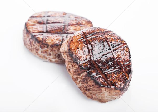 гриль сочный говядины свинина стейк ломтик Сток-фото © DenisMArt