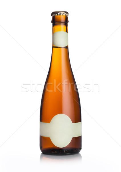 Karcsú üveg világos sör sör címke fehér Stock fotó © DenisMArt