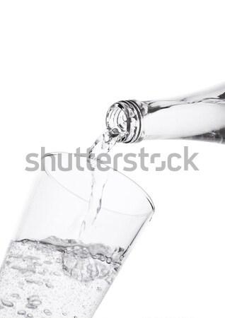 áramló pezsgő ásványvíz üveg üveg fehér Stock fotó © DenisMArt