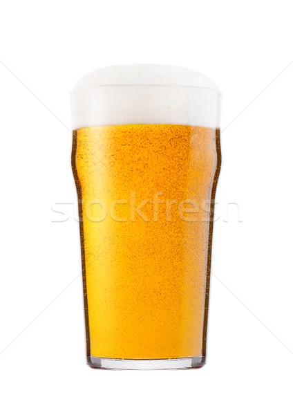 Hideg üveg világos sör sör hab harmat Stock fotó © DenisMArt