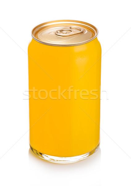Szkła pomarańczowy sody pić aluminium cyna Zdjęcia stock © DenisMArt