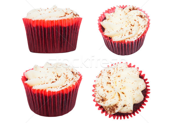 Vers muffin witte chocolade room Stockfoto © DenisMArt