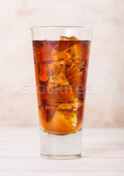 Vidro fresco verão chá gelado beber Foto stock © DenisMArt