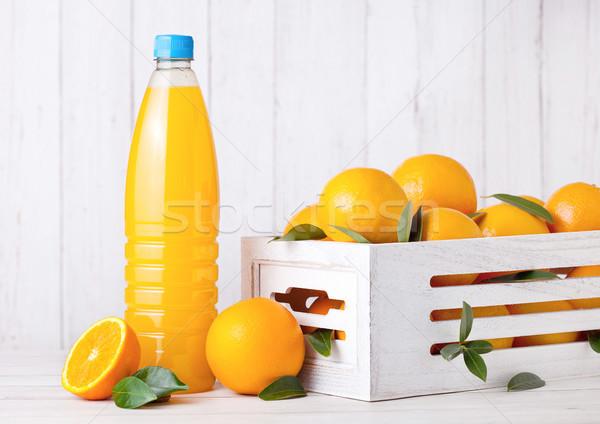 Plastic fles ruw organisch vers sinaasappelsap Stockfoto © DenisMArt