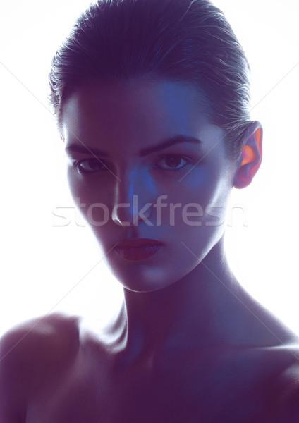 Beleza make-up moda modelo filtrar branco Foto stock © DenisMArt