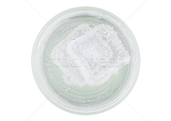 Lemoniada sody pić kostkę lodu górę widoku Zdjęcia stock © DenisMArt