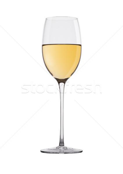 стекла белое вино изолированный белый продовольствие Бар Сток-фото © DenisMArt
