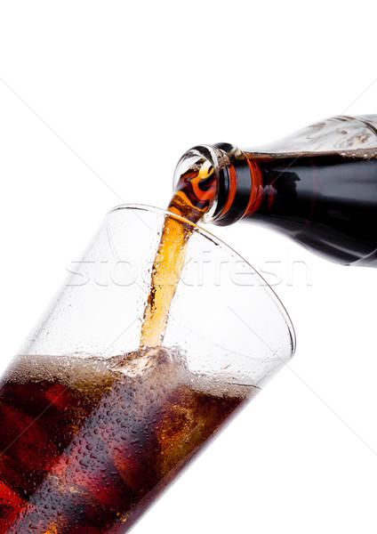 Cola soda drinken fles glas Stockfoto © DenisMArt