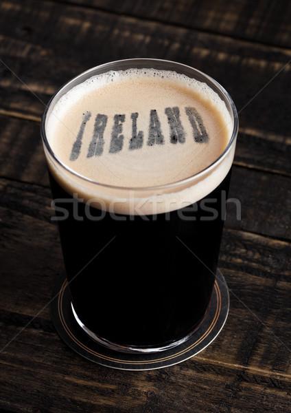 стекла пива Top Ирландия письма форма Сток-фото © DenisMArt
