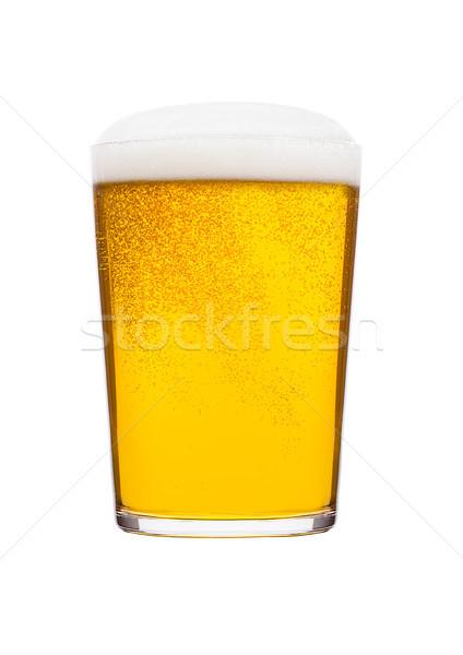 Soğuk cam alman birası bira köpük kabarcıklar Stok fotoğraf © DenisMArt