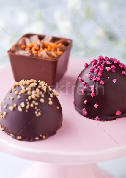 Luxury milk and dark chocolate candies variety  Stock photo © DenisMArt