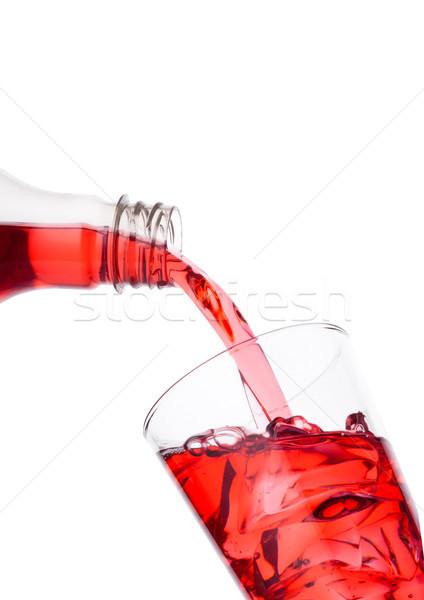 клюква красный сока бутылку стекла Сток-фото © DenisMArt