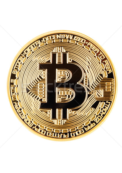 Bitcoin. Physical bit coin. Cryptocurrency. Stock photo © DenisMArt