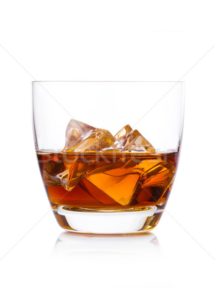 Verre whiskey blanche cognac brandy Photo stock © DenisMArt