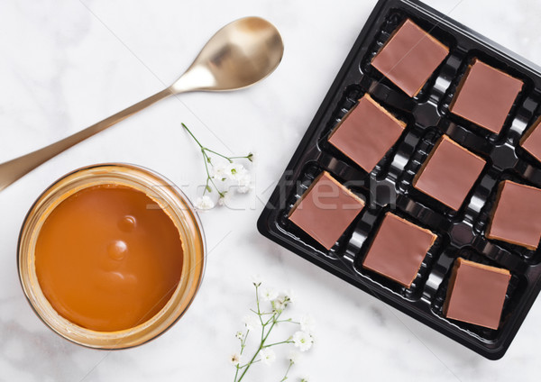 печенье десерта лоток мрамор совета Сток-фото © DenisMArt