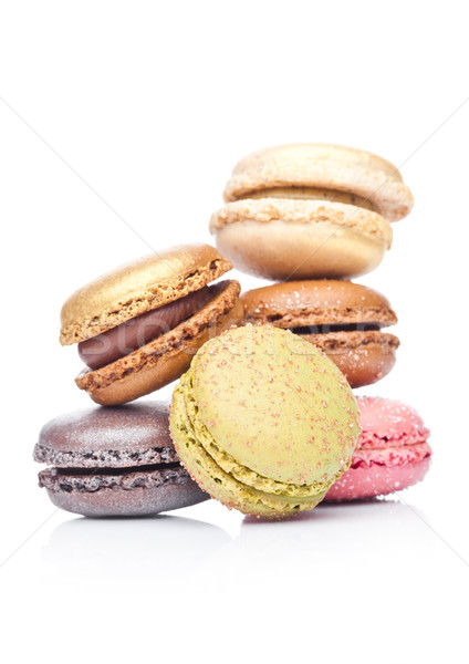 Stock photo: French luxury colorful macarons dessert cakes