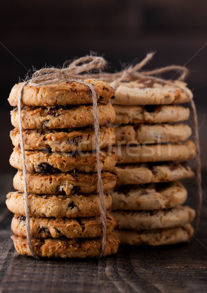 Gluten free oatmeal caramel cookies with candy  Stock photo © DenisMArt